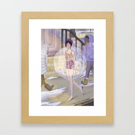 Shower Bubble Framed Art Print