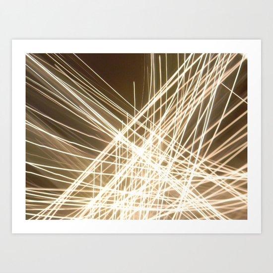Angle Lights. Art Print