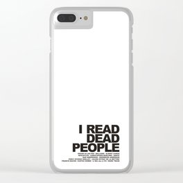 I READ DEAD PEOPLE Clear iPhone Case