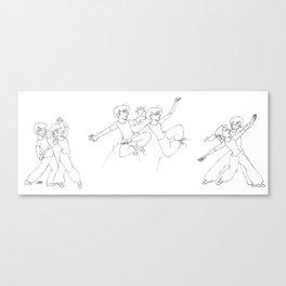 A Dance In Sweatpants I, II, and III Canvas Print