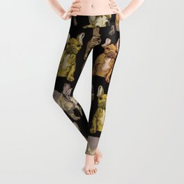 french bulldog black Leggings