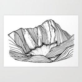 Capitol Peak Art Print