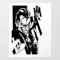 Insanity of The Joker Art Print