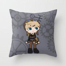 Steampunk Sailor Uranus - Sailor Moon Throw Pillow