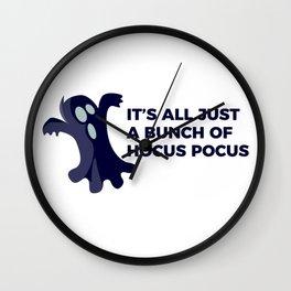 Hocus Pocus Ghost Boo Halloween Design Wall Clock