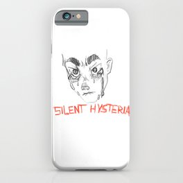 Silent hysteria iPhone Case