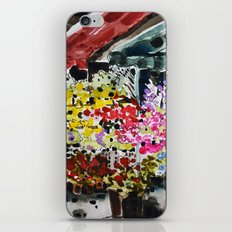 Flower market iPhone & iPod Skin