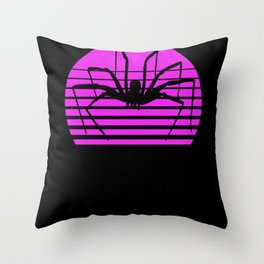 Retro Vintage Girl Spider I Spider Outfit Throw Pillow