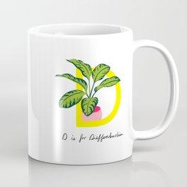 D is for Dieffenbachia Coffee Mug