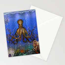 Octopus' Lair - colorful Stationery Cards