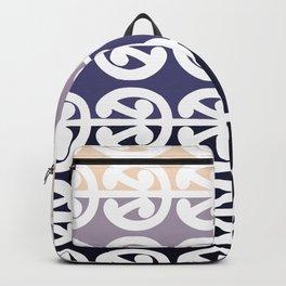 Mangopare Kowhaiwhai Design, Black to Cream Backpack