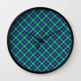 Scottish tartan #29 Wall Clock