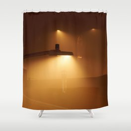 Foggy night in #montreal nord Shower Curtain