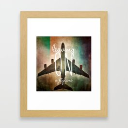 Leaving on a Jetplace Framed Art Print