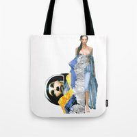 ufo Tote Bags featuring UFO by Mowil
