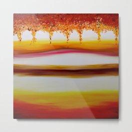 """Autumn"" Original oil finger painting by Monika Toth Metal Print"