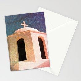 Greek Building Burnt Stationery Cards