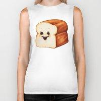 bread Biker Tanks featuring Bread by Kelly Gilleran