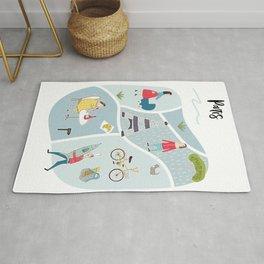 Paris Map Rug