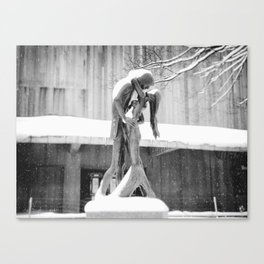 Winter Kiss - Central Park - New York City Canvas Print