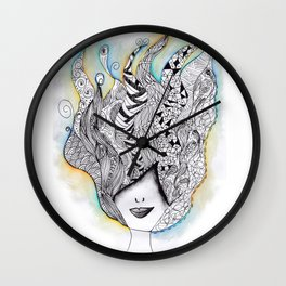 365 cabelos - Being creative Wall Clock