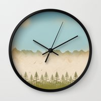 relax Wall Clocks featuring Relax by Tammy Kushnir