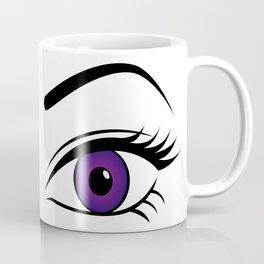 Violet Left Eye Coffee Mug