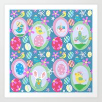 easter Art Prints featuring Easter  by Art Tree Designs