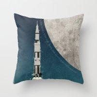 apollo Throw Pillows featuring Apollo Rocket by WyattDesign