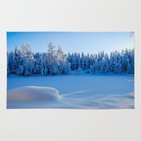 swedish Area & Throw Rugs featuring Swedish Winter by Mark W
