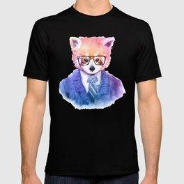 Cute fashion hipster animals pets red panda T-shirt