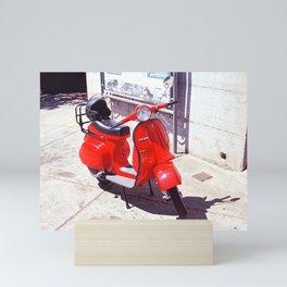 Red Vespa   Sardinia Italy Mini Art Print