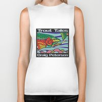 trout Biker Tanks featuring Trout Tales by Craig Petersen