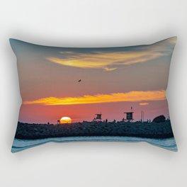 Sunset at the Wedge Rectangular Pillow