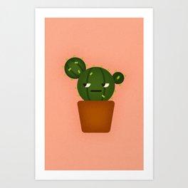 Ball Cactus Plant Art Print