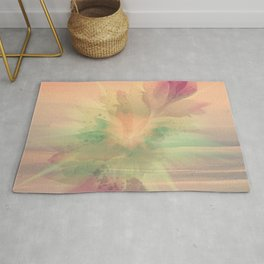 Peach Pastel Color Burst Abstract Rug