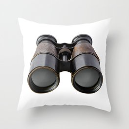 Vintage binoculars Throw Pillow