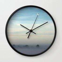 Snow, mist and moon Wall Clock