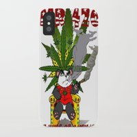cannabis iPhone & iPod Cases featuring TIMMY THE CANNABIS BEAR  by Timmy Ghee CBP/BMC Images  copy written