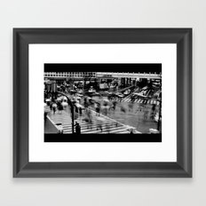 Shibuya Crossing Motion Framed Art Print