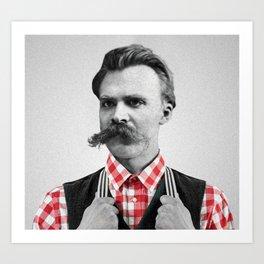 Hipster Nietzsche Art Print