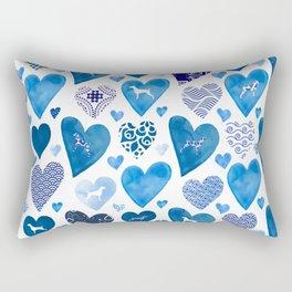 BLUE HEARTS WEIMARANERS Rectangular Pillow