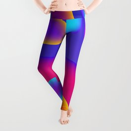 Abstract Wavy Shape Pattern Leggings