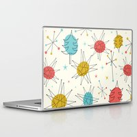 mid century Laptop & iPad Skins featuring Mid-Century Holiday Season by There is no spoon