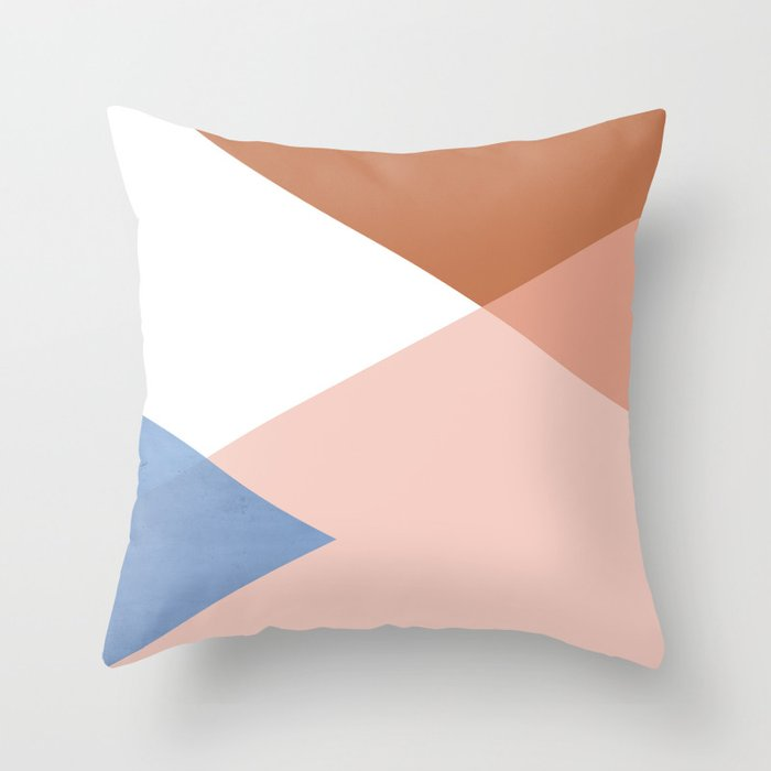 Geometrics - moroccan sky Throw Pillow