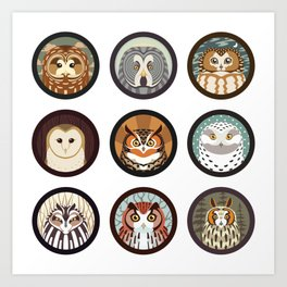Owls of the Eastern United States Art Print