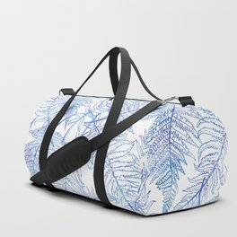 Fern Silhouette Blue Duffle Bag