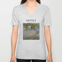 Monet - The Artist's Garden at Giverny Unisex V-Neck