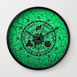 Green Circle Of Triangle Wall Clock