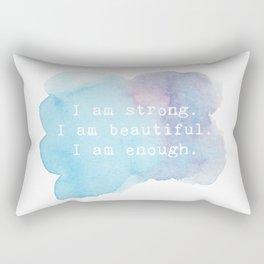 I am Strong Rectangular Pillow